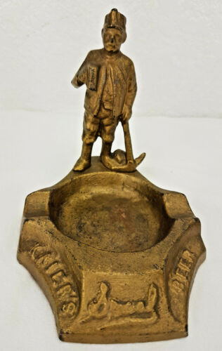Pre Prohibition Kaier Brewery Beer Cast Iron Ashtray Mahanoy City Pa - Kaier