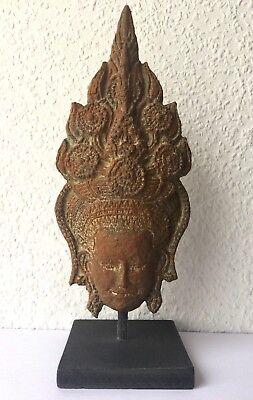 DANCER APSARA ANGKOR VAT STYLE Khmer paper mache recycled original Cambodia