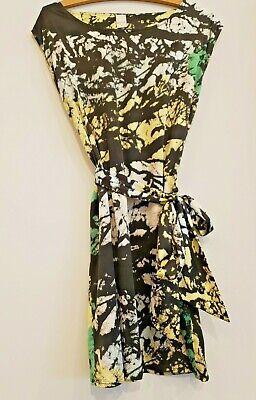 robe VILA noir/vert/blanc  M 38