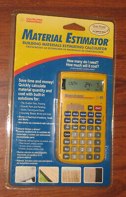 Material Estimator Calculator Construction Hand Tool Calculated Industries New