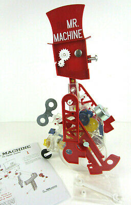 MINT Mr Machine Wind Up Walking Toy Robot Instruction Metal Key/Bell/Wrench Box