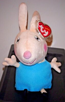 Ty Beanie Baby ~ REBECCA RABBIT (UK Exclusive)(Peppa Pig) NEW MWMT, used for sale  Shipping to India