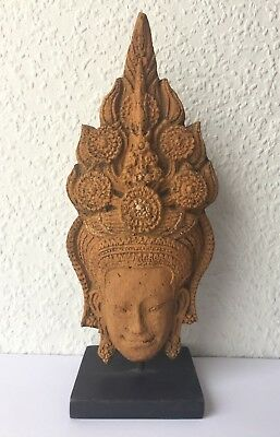 Figure Apsara Angkor Vat Dance Khmer Paper Mache Recycled Original Cambodia
