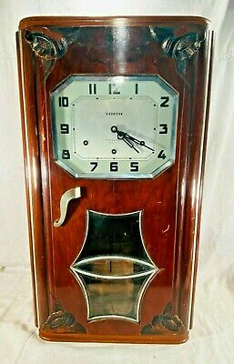 Vintage Vedette Art Deco French Westminster Wall Clock - 8 Arms 8 Hammers