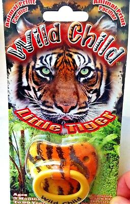 Animal print pacifier 'Wild Child - Little Tiger'