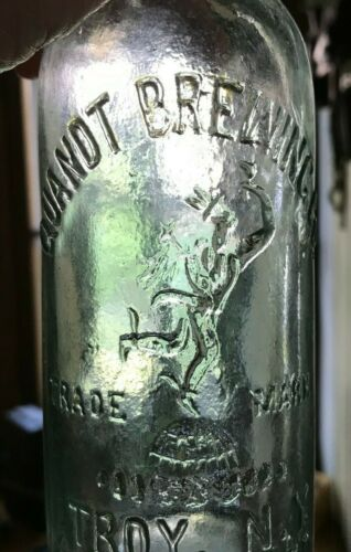 Antique Embossed Indian Quandt Brewing Co.  Troy NY!! Very cool!! Old!! Rare!!