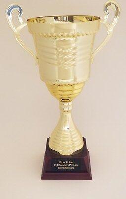"""13/"""" Metal Trophy Cup Free Engraving 11513-S or G"""