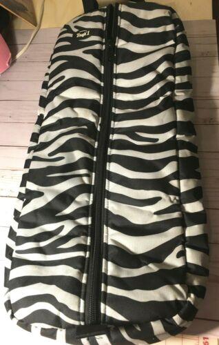 Zebra Print Padded Nylon Bridle/Halter Carrier Bag - Tough 1 - USED