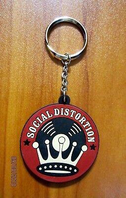 Social Distortion Rubber Key Chain Fob Keychain Keyring SEX, LOVE, ROCK N ROLL