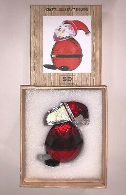 "Simon Designs ""Crystal Jolly Santa Figure"" Brand new in box. Free shipping!"