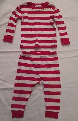 Under the Nile Organic Cotton Pajamas Baby 6 months White Red Stripes Boy Girl -