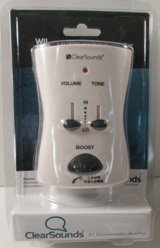 Clear Sounds Portable Telephone Phone Amplifier WI-95 White