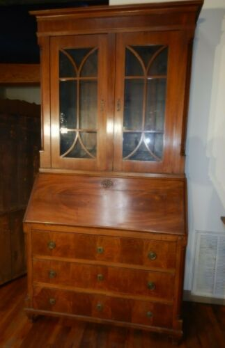 English Secretary Desk 6 Drawer fitted interior dovetailed case needs restored