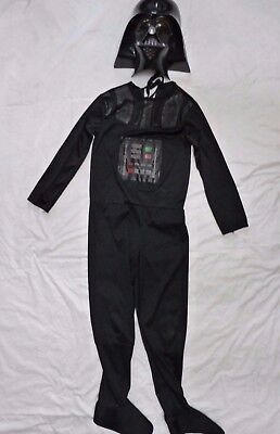 RUBIES Star Wars DARTH VADAR 2pc HALLOWEEN COSTUME w/ MASK Child M 10 (Darth Vadar Costumes)