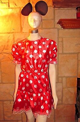 RUBIES WOMENS MINNIE MOUSE WITH EARS COSTUME STANDARD SIZE FITS UP TO SIZE 8 (Minnie Standard Kostüme)