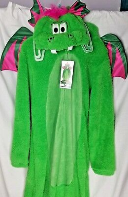 Dragon Halloween Adult XL Green Pink Costume Pajama women men Wing Pete Cosplay (Pink Dragon Costume)