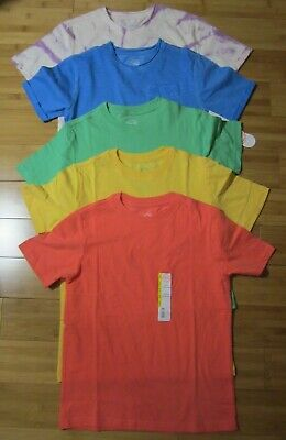 Mix Match Day (New LOT of 5 t-shirt BOY M 8 solid colors tie-day mix)