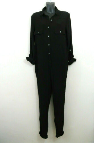 Hatch Maternity Button Up Jumpsuit Black Size 1