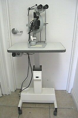 Carl Zeiss Opthalmic Slit Lamp F125 On Motorized Instrument Table Optometry Eye