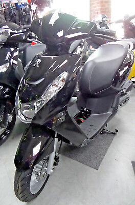 Peugeot Kisbee 50cc Black 2018 Model Euro 4 New