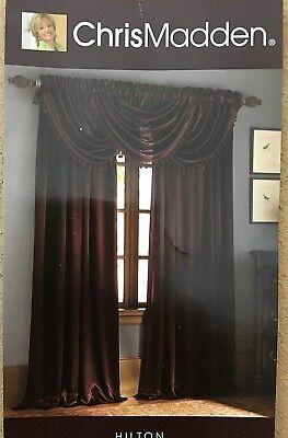 Chris Madden Hilton Brown Clay Valance or Curtain Panel 54 x 63 Your Choice