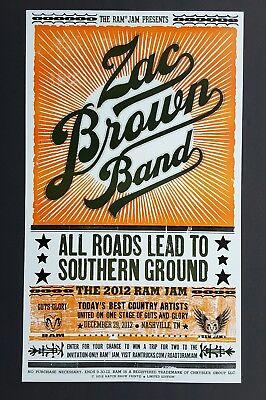 ZAC BROWN BAND Hatch Show Print NASHVILLE Ram Jam RARE! Concert 2012 Poster #CMA