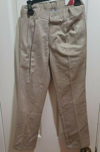 Boys IZOD Khaki Uniform/Casual Pleated Tough Cotton Pants Slim Reg  Husky  6-18