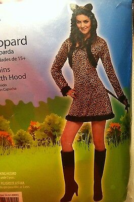 Lady Leopard Sexy Halloween Costume Woman's Size Small (4-6) New In Package