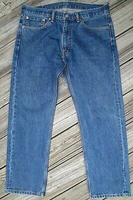 LEVIS 505 JEANS  Regular Straight Medium-Dark Wash Blue, Men's 36 x 30 Excellent