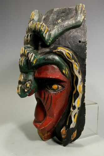 Mexico Mexican Lizard & Snake Decor Polychrome Wood Dance mask ca. 20th c.
