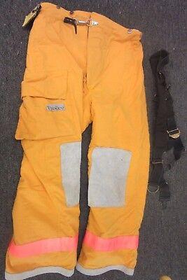 Fire Dex Ppe Firefighter Gear Protection Turnout Suit Bunker Suspenders 2xl Pant