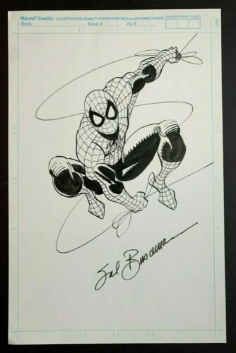 SPIDER-MAN original art by SAL BUSCEMA, signed, with COA