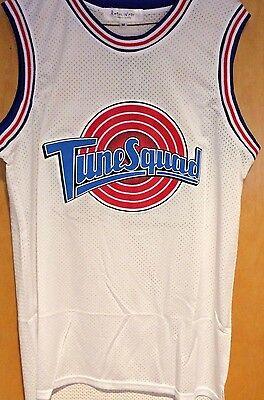 Michael Jordan #23 Space Jam Tune Squad Basketball Jersey White S M L XL XXL