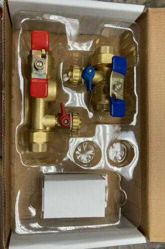 "Rinnai - 3/4"" IPS Tankless Water Heater Isolation Valves Kit With Relief Valve"