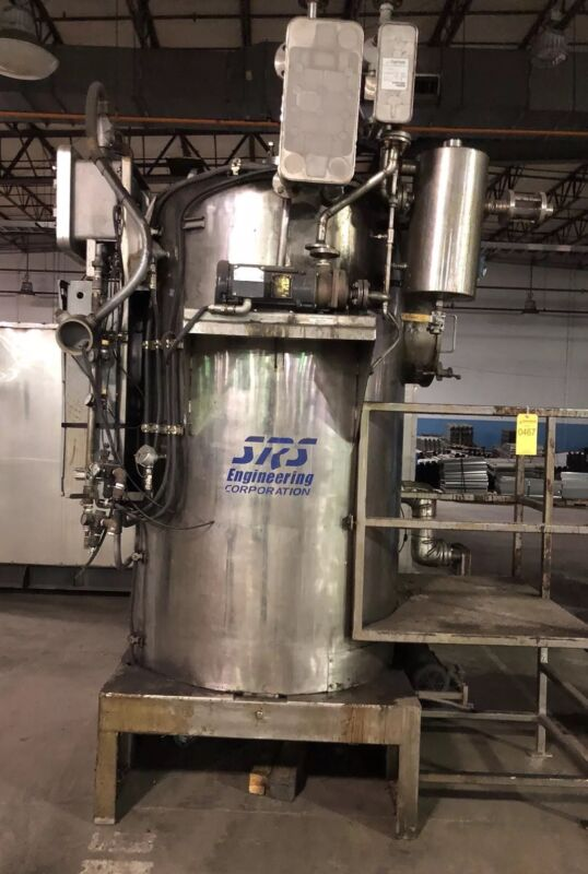 SRS Solvent Recovery System Stainless Jacketed Mix Tank Vacuum Recovery CT-1500
