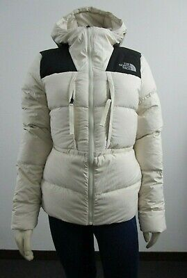 NWT Womens The North Face UX (Nuptse) 550-Down Insulated Hooded Jacket - White Womens Hooded Nuptse Jacket
