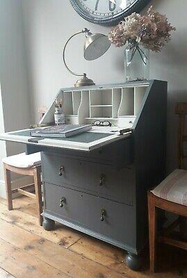 Antique Vintage painted Victorian Bureau/study/computer desk /chest of drawers