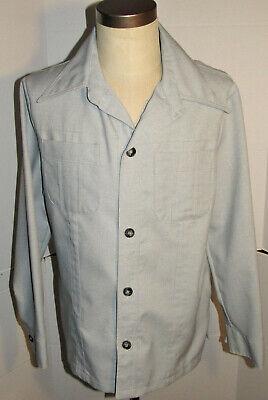 1970s Men's Shirt Styles – Vintage 70s Shirts for Guys VINTAGE 1970s MEN'S JC PENNEY SHIRT/JACKET! LIGHTWEIGHT! BIG COLLAR! POCKETS! L  $46.99 AT vintagedancer.com