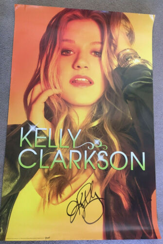 Kelly Clarkson Signed Poster - AUTOGRAPH American Idol Voice Not CD Vinyl Show