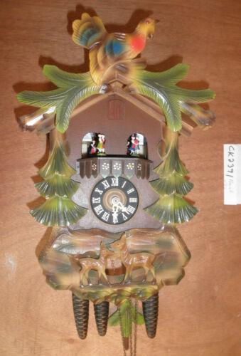 Cuckoo Clock German Black Forest Schmeckenbecher SEE VIDEO musical 1 Day CK2391