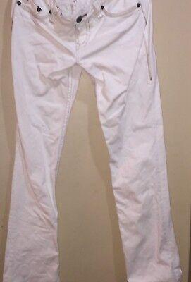 1921 Bootcut Jeans SZ 28/34 COTTON BLEND Pants Off- White  1921 Jeans Cotton Jeans