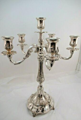 Sterling Silver 925 6 Branch Candelabra 1254 GRAMS