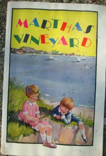 1923 The NY, New Haven & Hartford Railroad Martha's Vineyard Brochure w/ MAP!