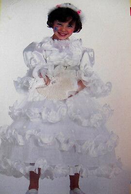 Traum Kostüm Kleid Prinzessin~Braut Reifrock Gr 140  Prinzessin~Elfe~Engel (Engel Prinzessin Kostüm)