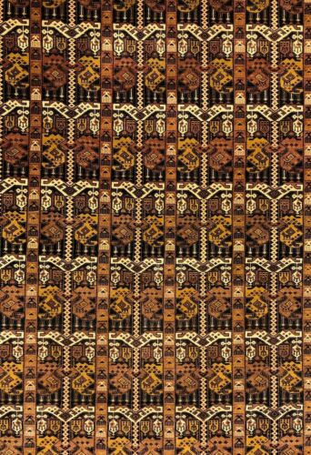 Terrific Tribal - 1940s Antique Oriental Rug - Nomadic Carpet - 7 X 10 Ft.