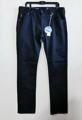 AG - ADRIANO GOLDSCHMIED - MEN'S 36/32 - THE MATCHBOX SLIM STRAIGHT BLACK JEANS