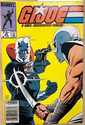 G.I. JOE #38 (1985) Marvel Comics VG+/FINE-