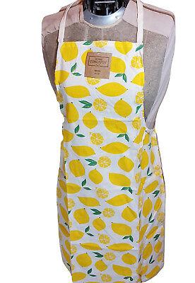 Lemons Cotton Kitchen Chef's Apron Print Fruit Pattern Baker Fashion 19 x 30 Chef Apron Pattern