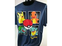 Pokemon Inspiriert T-Shirt The Starters Charmander Pikachu
