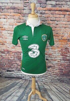 NWT $90 Umbro Men 2016 Green REPUBLIC OF IRELAND LFC Away Soccer Futbol Jersey S image